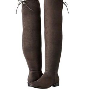 NEW Call it spring Legivia suede over knee boot